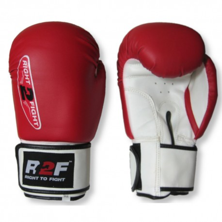 Rękawice bokserskie FIGHT-PRO czerwone 10 oz