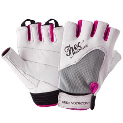 WOMEN'S - TREC ACCESORIES - FITNESS - GLOVES - WHITE-GRAY