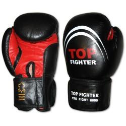 Rękawice bokserskie Top Fighter  skóra