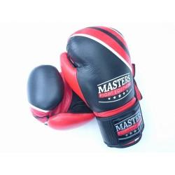 Rękawice bokserskie skórzane MASTERS V-BOXE RBT-12 oz
